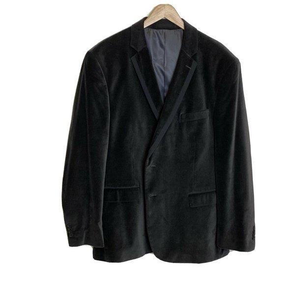 Kenneth Cole Mens Velvet Sport Coat Blazer 48R